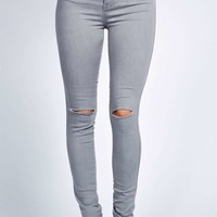 Keira Grey High Rise Disco Jeans
