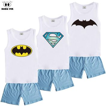 DMDM PIG Spiderman Children Teenage Infant Kids Baby Boys Girls Clothing Sets Tops Christmas Teen Girl Brands Size 5 6 7 8 Years