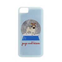 Snow Globe Phone Case - Pugs and Kisses