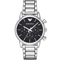 Emporio Armani Men's Classic Chronograph Stainless Steel Watch - Silve