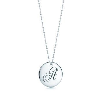 "Tiffany & Co. - Tiffany Notes®:Letter ""A"" Round Pendant"