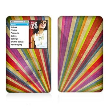 The Vinatge Sprouting Ray of colors Skin For The Apple iPod Classic