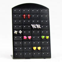 New Fashion 36 Holes Earrings Ear Studs Jewelry Show Plastic Display Rack Stand Organizer Holder Showcase Christmas D109