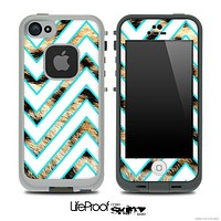 Large Chevron and Real Cheetah Skin for the iPhone 5 or 4/4s LifeProof Case