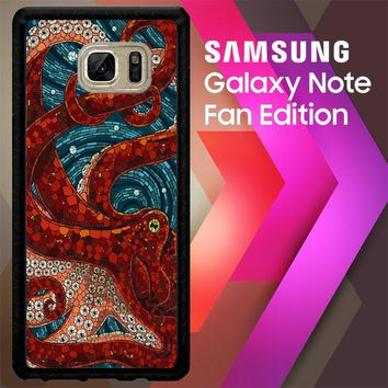 Kraken Octopus Stained Glass L1586 Samsung Galaxy Note FE Fan Edition Case