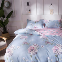 2.0m 4pcs Floral Bedding Set -SheIn(Sheinside)