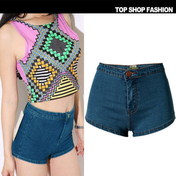 Sexy Women Girl Summer High Waist Ripped Hole Wash Denim Jeans Shorts Pants = 4721870916