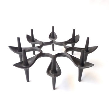 Danish Modern Cast Iron Candleabra by Jens Quistgaard for Dansk Starholder Spike