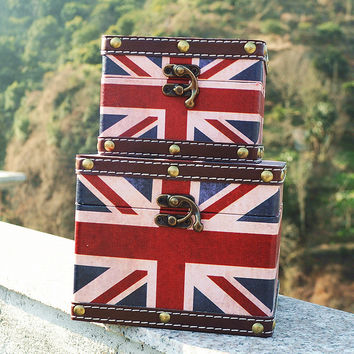 Engliand Flag England Style Storage Box Decoration Home Decor [6282383878]