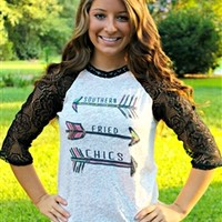 Lace and Arrows SFC Baseball Tee.