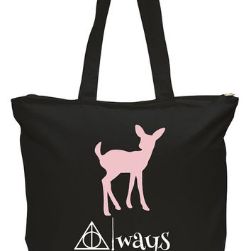 Always Harry Potter Inspired Book Tote Bag, Book Tote, Fangirls, Book Lover Humor, Book Worm, Harry Potter, Snape, Always