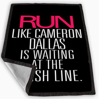 Run Cameron Dallas Blanket for Kids Blanket, Fleece Blanket Cute and Awesome Blanket for your bedding, Blanket fleece *