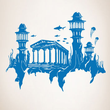 Vinyl Wall Decal Sticker Lost City of Atlantis #GFoster176
