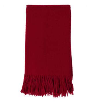Cashmere Throw in Claret by Alashan