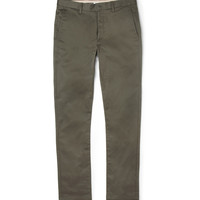 Acne Roc Slim-Fit Cotton-Blend Trousers | MR PORTER