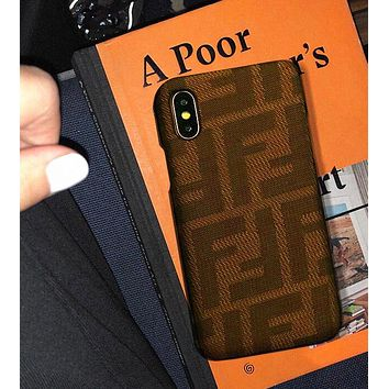 FENDI Fashionable Women Men Retro Double F Letter Mobile Phone Cover Case For iphone 6 6s 6plus 6s-plus 7 7plus 8 8plus X XsMax XR