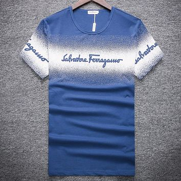 Salvatore Ferragamo  Men Fashion Casual Letter Print Shirt Top Tee