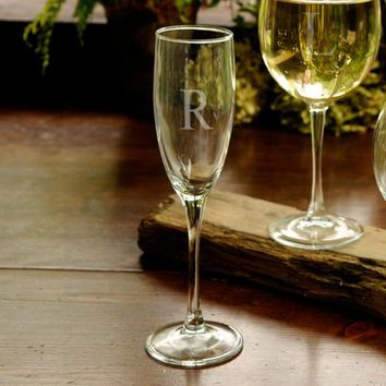 Personalized Toasting Glass - Initial