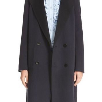 Tibi Reversible Double Face Wool & Angora Long Coat | Nordstrom