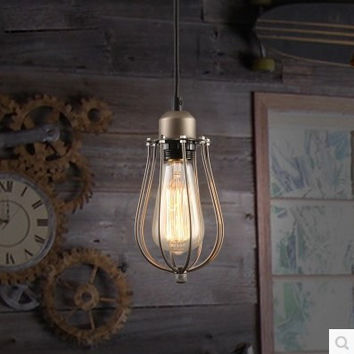 60W Edison Retro Vintage Lamp Loft Style Vintage Industrial Lighting Pendant Lights W/ Glass Lamp Shade