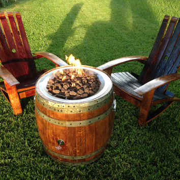 Portable Wine Barrel Fire Pit