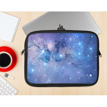 The Blue & Purple Mixed Universe Ink-Fuzed NeoPrene MacBook Laptop Sleeve