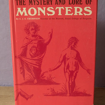 vintage The Mystery and Lore of Monsters book by ShoponSherman