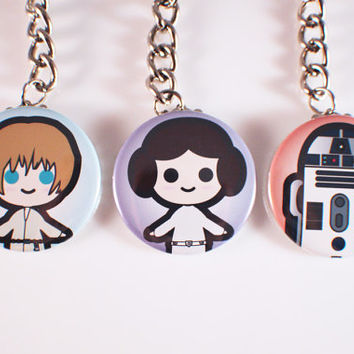 Star Wars Button Keychains
