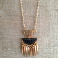 Spiked Moon Necklace