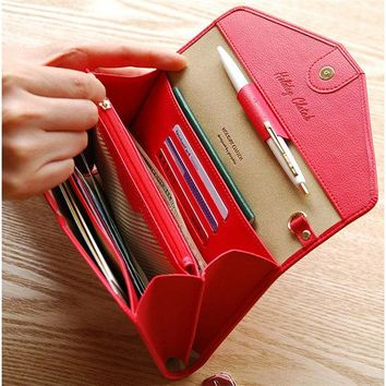 Multifunctional Travel Passport Bag Storage Bags 6inch Phone Bag Wallet Card Holder Purse