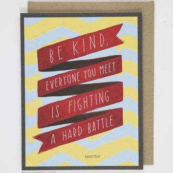 """""""Be Kind"""" Quote Card"""