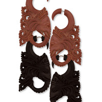 NEW! Ganesh Faux Gauge Earrings
