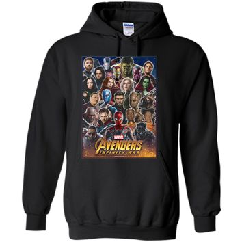 Marvel Avengers Infinity War Team Headshots Graphic  Pullover Hoodie 8 oz