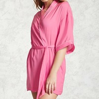 Satin Contrast Trim Robe
