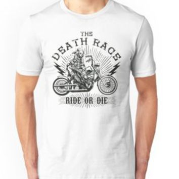 'THE DEATH RACE - Ride or Die Biker Design' T-Shirt by Super3