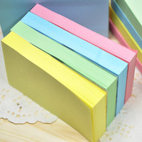 1pc Korean Stationery Colorful Memo Sticker Cute Sticky Notes Memo Pad