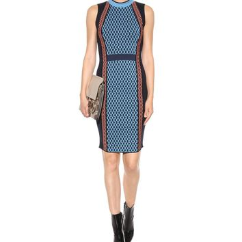 Knitted wool-blend stretch dress