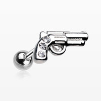 Sparkle Pistol Cartilage Tragus Earring