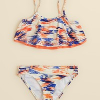 Ella Moss Girls' Printed Laser Cutout Two Piece Swimsuit - Sizes 7-14 | Bloomingdales's