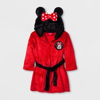 Toddler Girls' Minnie Mouse Robe - Red