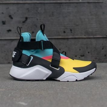 spbest NIKE - Girl - GS Air Huarache City - Yellow/Black/Blue