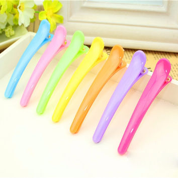 5pcHair Clip Plastic Professional Hairdressing Cutting Salon Styling Tools Section Hair Clips Colorful Clamps Plastic Hair Pins