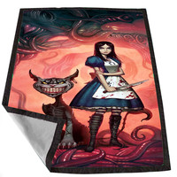 Cheshire Cat Alice 83abf1db-c71f-4af3-b273-d37f91b5951a for Kids Blanket, Fleece Blanket Cute and Awesome Blanket for your bedding, Blanket fleece *02*