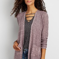 lightweight marled cardigan with pockets | maurices