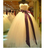 New Sweet Yarn Tube Top Wedding Dress formal Vestido De Noiva  2015