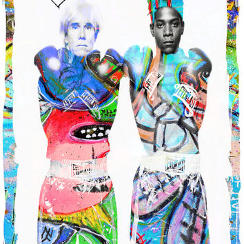 WARQUIAT (Basquiat and Andy Warhol) - Digital Art Print - MULTIPLE SiZES AVAiLABLE