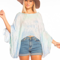 Tiare Hawaii Banyans Top Teal/Blue