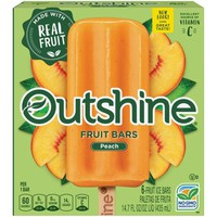 Outshine Fruit Bars, Peach 6 ct Box - Walmart.com