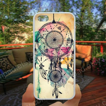 colorful dream catcher iphone 4/4s case iphone 5/5s/5c case samsung galaxy s3/s4 case galaxy S5 case Waterproof gift case 453