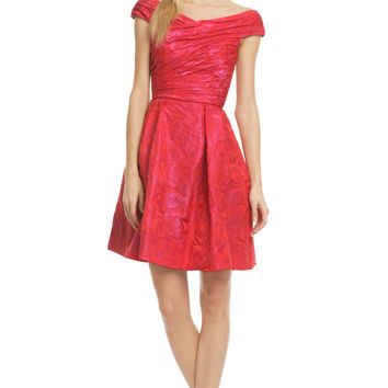Theia Hybrid Tea Rose Dress
